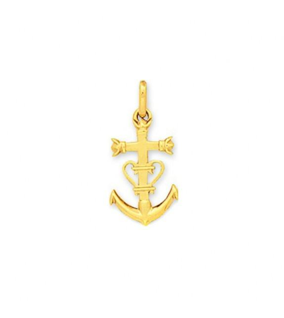 Pendentif croix Camarguaise en Or jaune 375/00