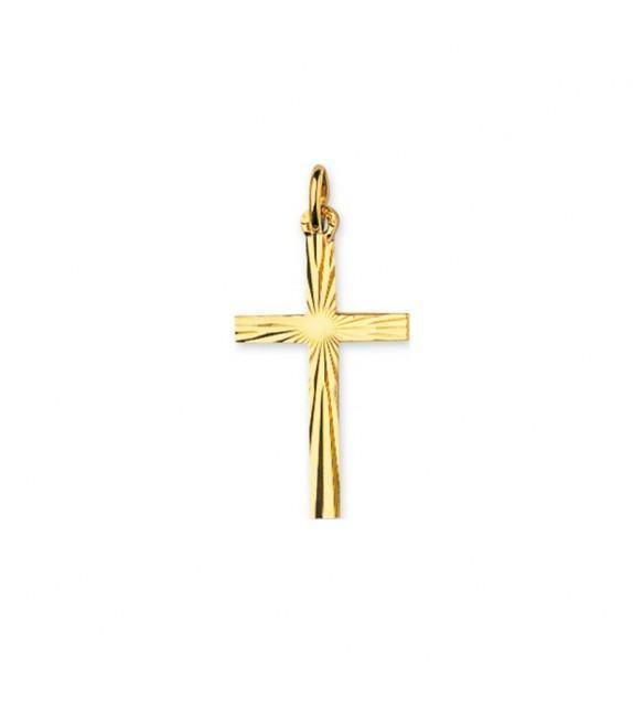Pendentif croix ciselée en Or jaune 375/00