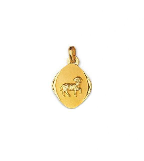 Pendentif zodiaque signe Bélier en Or jaune 750/00