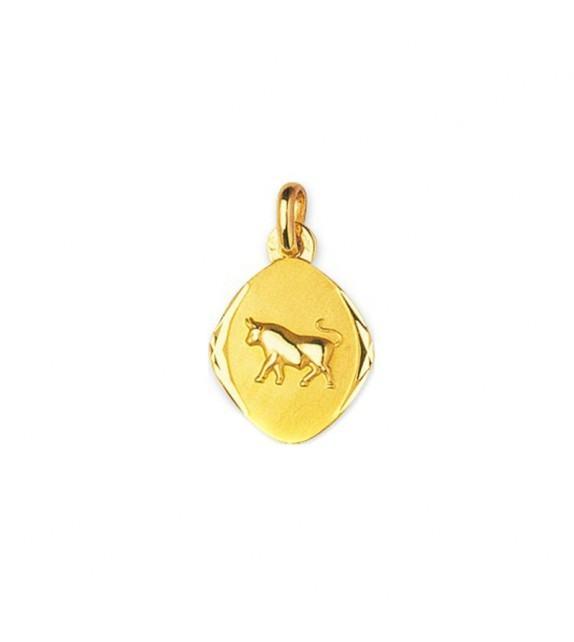 Pendentif zodiaque signe Taureau en Or jaune 750/00