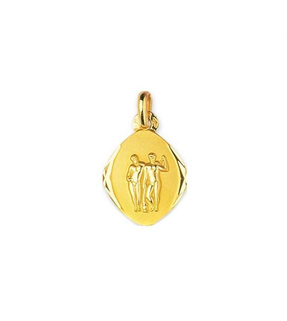 Pendentif zodiaque signe Gémeaux en Or jaune 750/00