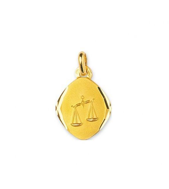 Pendentif zodiaque signe Balance en Or jaune 750/00