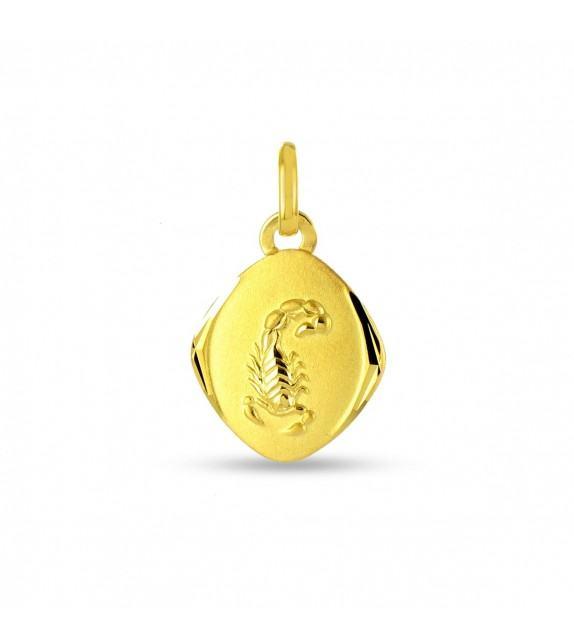 Pendentif zodiaque signe Scorpion Or jaune 750/00