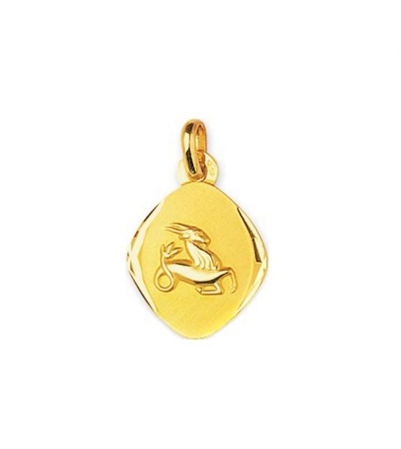 Pendentif zodiaque signe Capricorne Or jaune 750/00