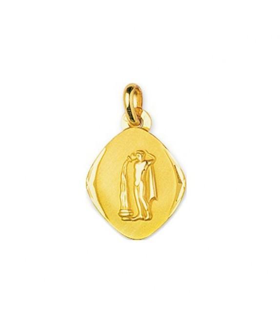 Pendentif zodiaque signe Verseau Or jaune 750/00
