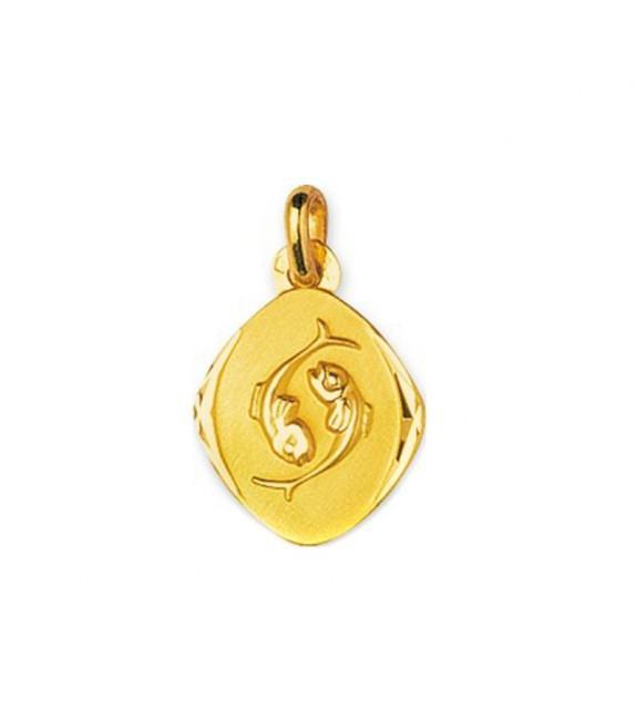 Pendentif zodiaque signe Poisson Or jaune 750/00