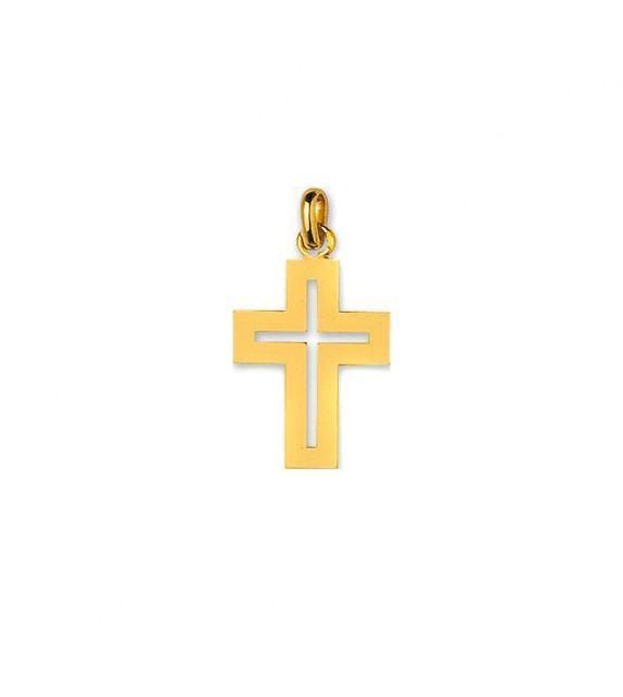 Pendentif croix ajourée en Or jaune 750/00