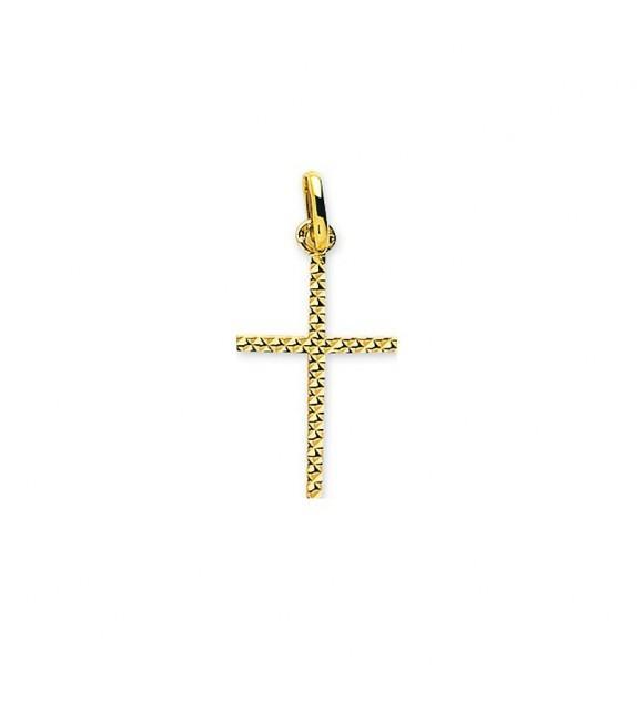 Pendentif croix ciselée en Or jaune 750/00