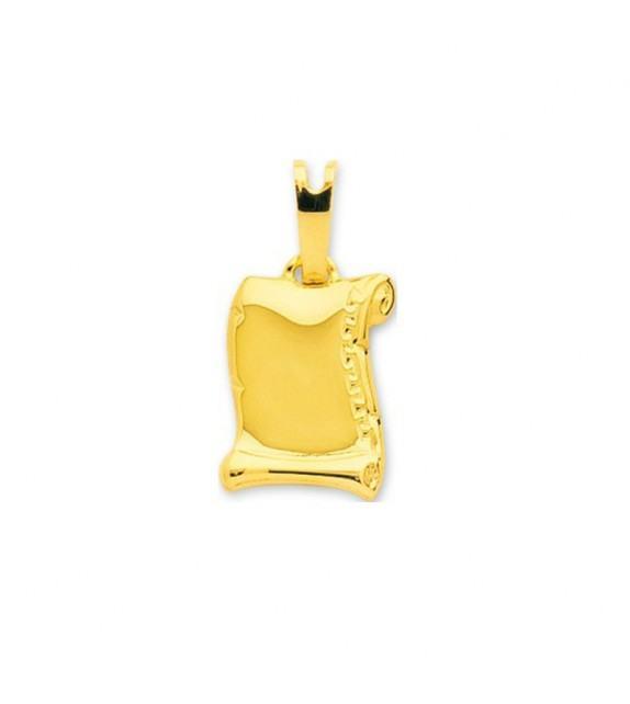Pendentif parchemin en Or jaune 750/00