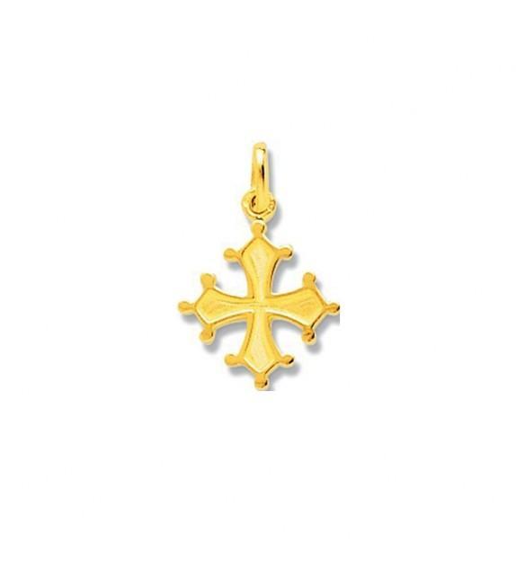 Pendentif croix occitane en Or jaune 750/00