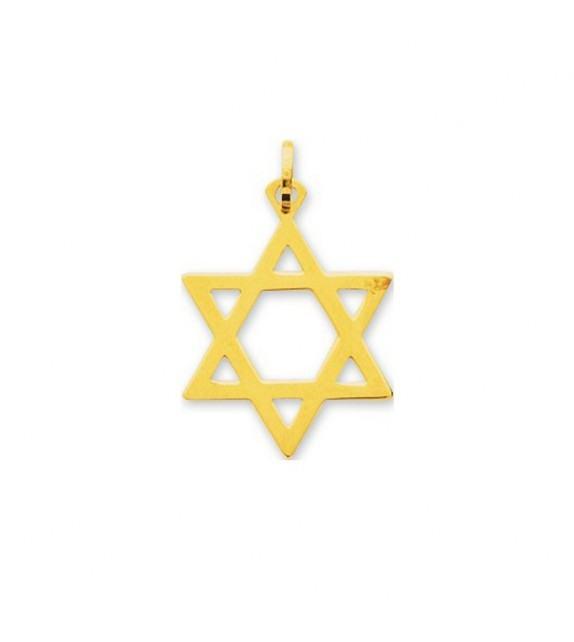 Pendentif étoile de David en Or jaune 750/00