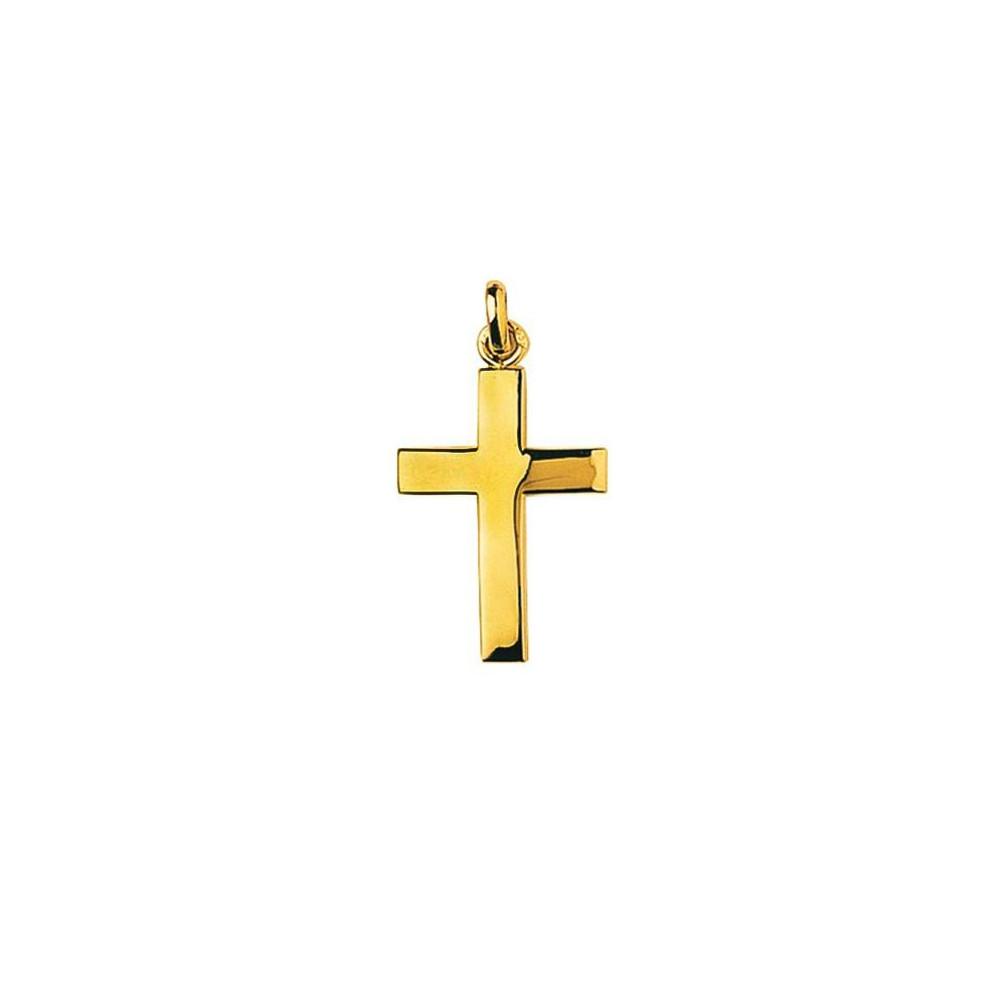 Pendentif croix en plaqué Or