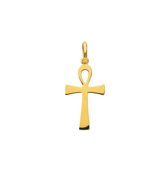 Pendentif croix égyptienne en plaqué Or
