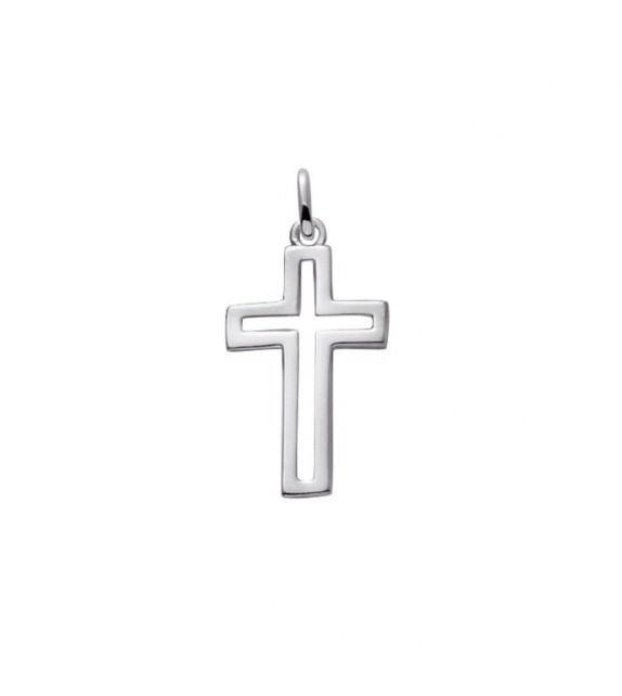 Pendentif croix avec détail ajouré en Argent 925/00