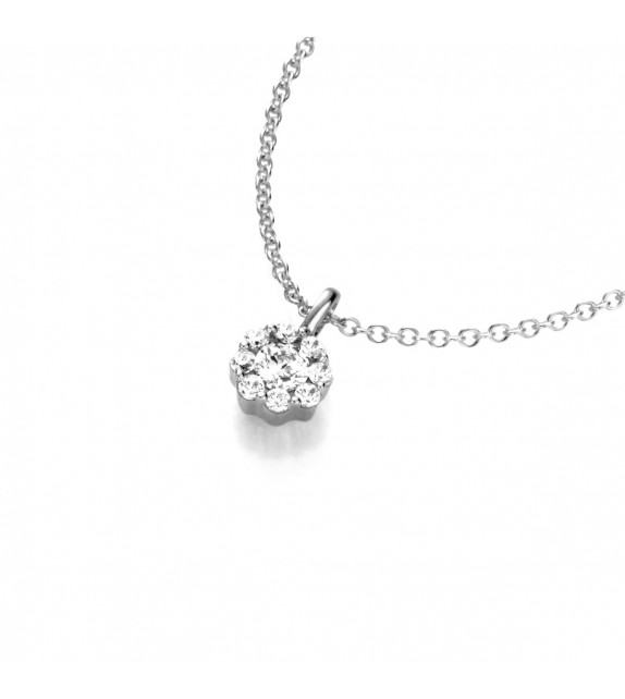 Collier Diamants et Or blanc 375/00