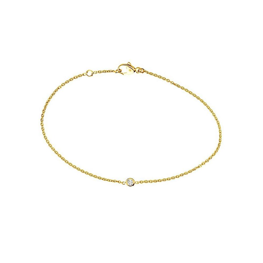 Bracelet en Or jaune 375/00 et Diamant