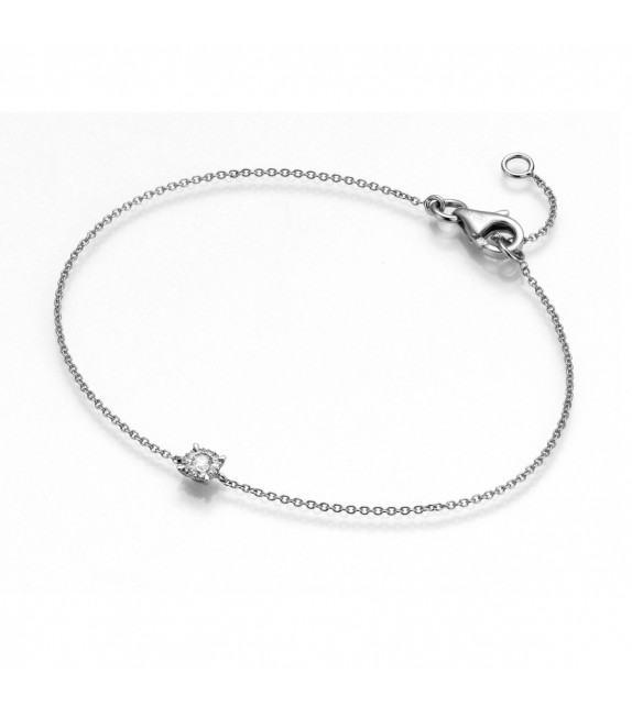 Bracelet en Or blanc 375/00 et Diamant