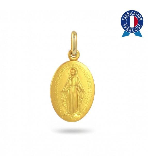 Médaille Vierge miraculeuse en Or jaune 375/00