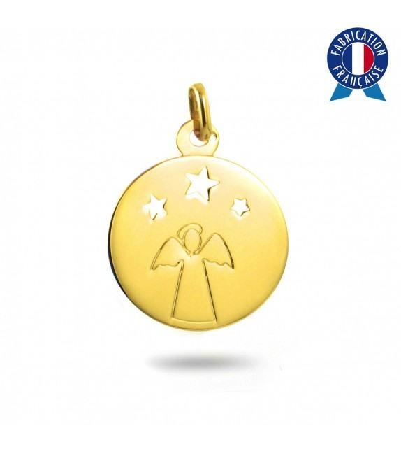 Médaille Ange étoilé en Or jaune 375/00