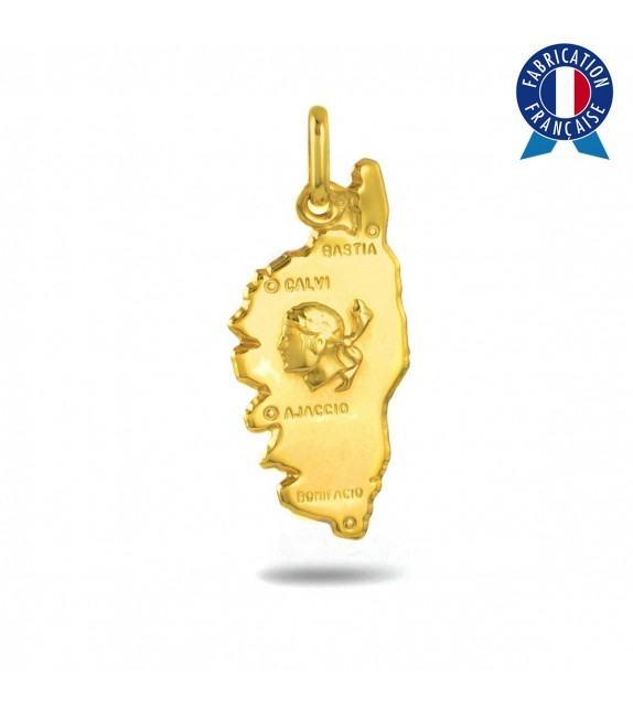 Pendentif Corse et tête de Maure en Or jaune 375/00