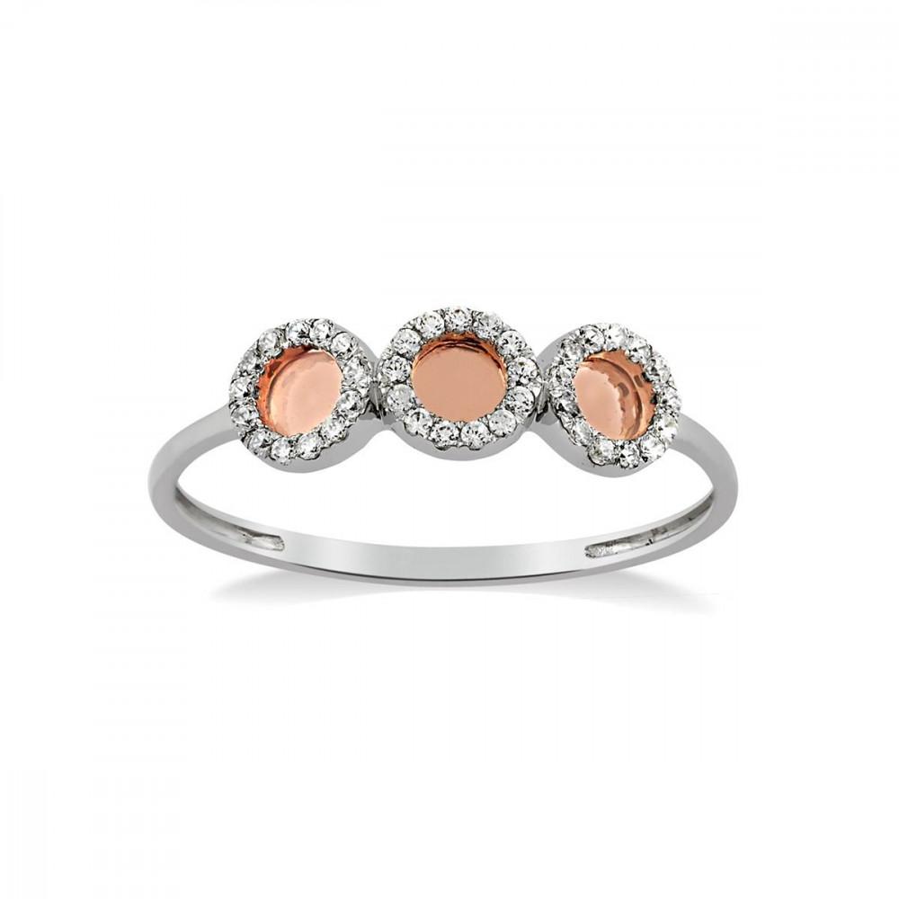 pas cher à vendre garantie de haute qualité france pas cher vente Details about Tous Mes Bijoux ring / White and rose gold / 0.13ct diamonds  / Size L / RRP €445