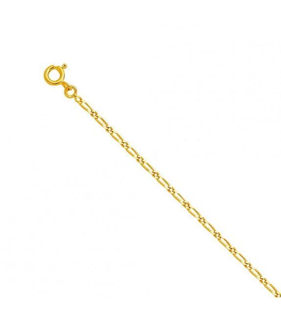 Bracelet maille cheval alternée Or jaune 375/00