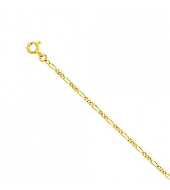Bracelet maille alternée Or jaune 375/00