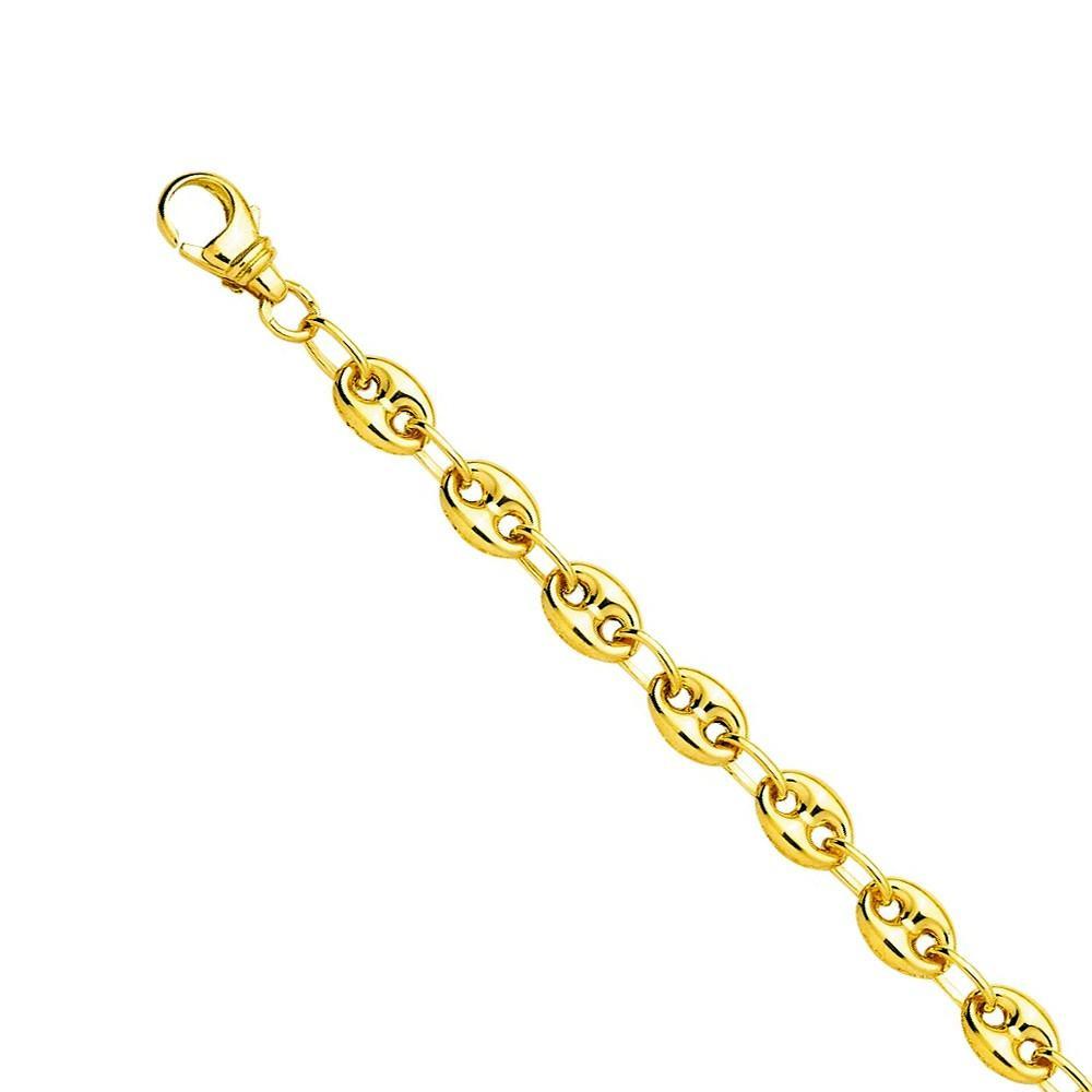 Bracelet grain de café en Or jaune 375/00