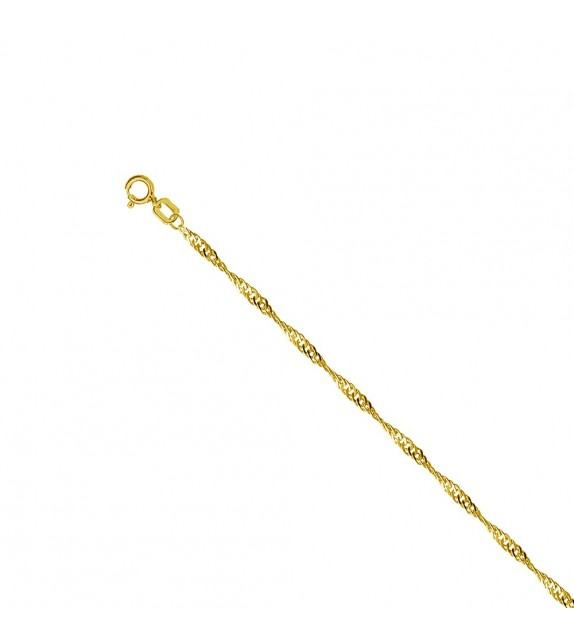 Collier maille singapour Or jaune 375/00