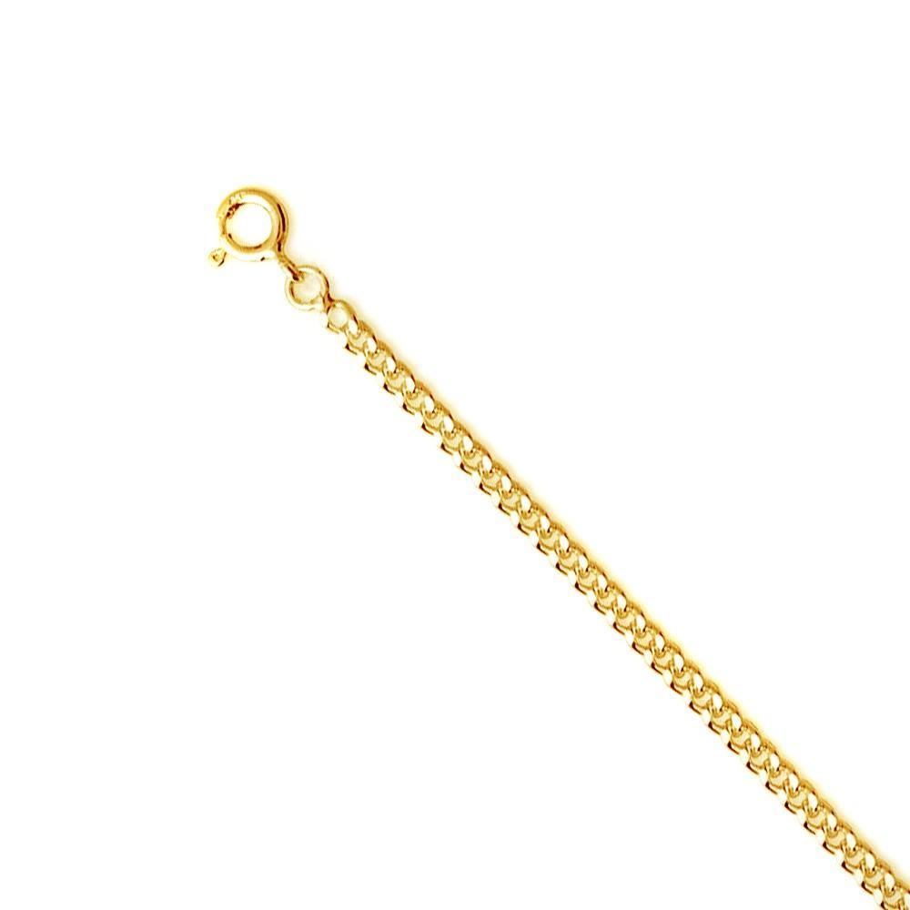 Chaine alternée 3 mm Or jaune 375/00 - 50 cm