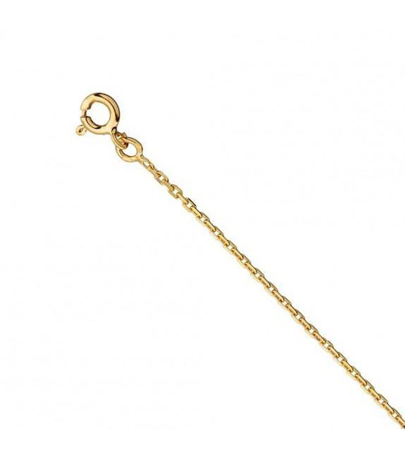 Chaine forçat diamantée 1 mm Or jaune 375/00 - 45 cm