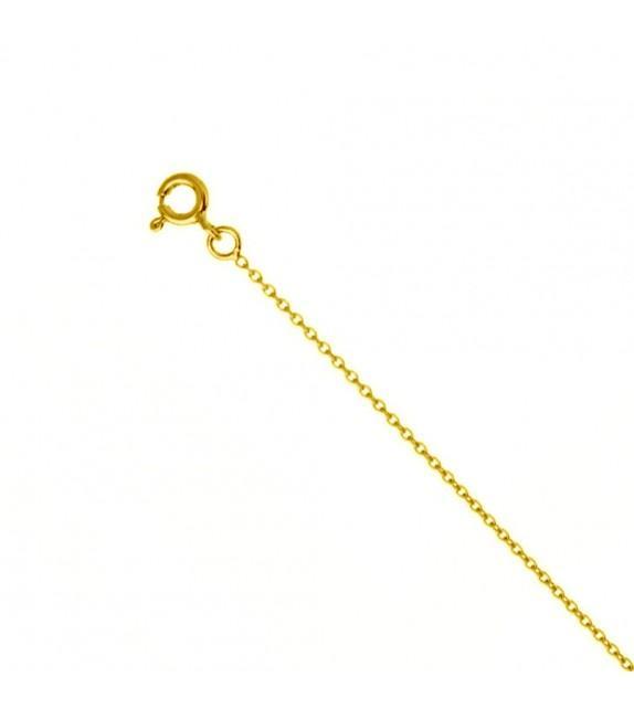Chaine forçat ronde 1,5 mm Or jaune 375/00 - 45 cm
