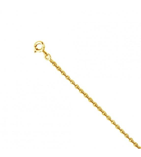 Chaine forçat ronde 2 mm Or jaune 375/00 - 60 cm