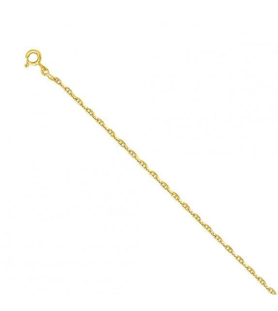 Chaine forçat marine 2 mm Or jaune 375/00 - 45 cm