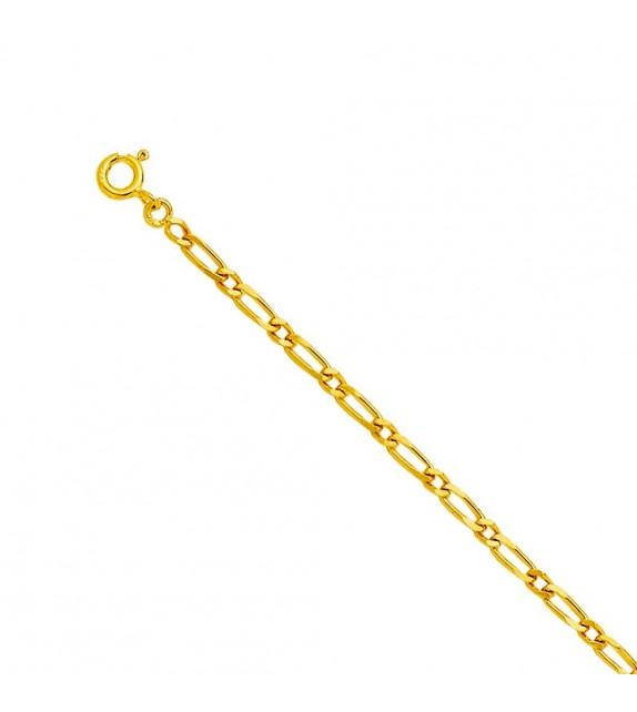 Chaine cheval alternée 1,7 mm Or jaune 375/00 - 45 cm
