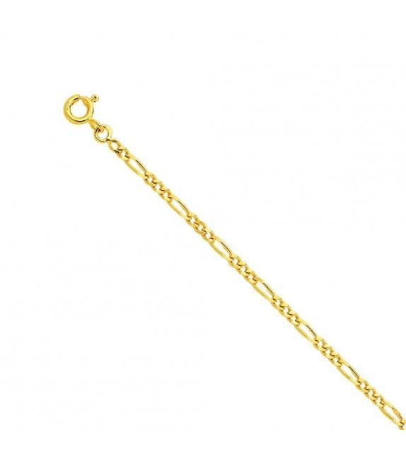 Chaine alternée 1,4 mm Or jaune 375/00 - 45 cm