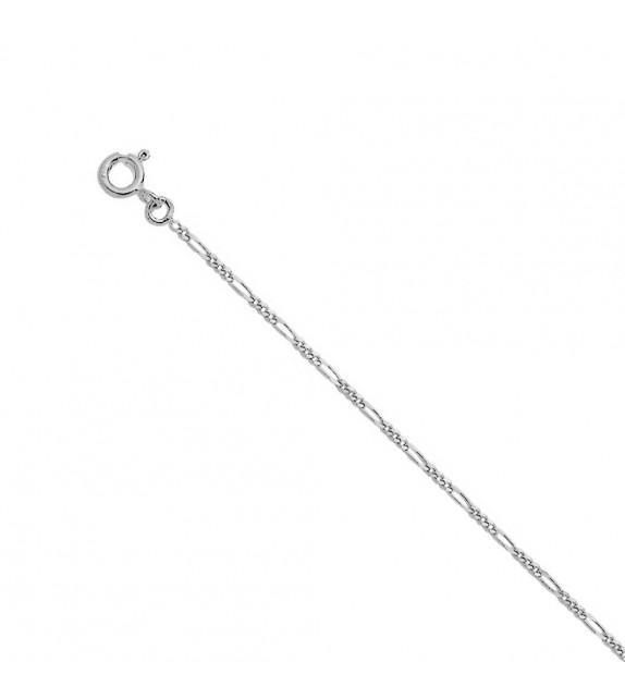 Chaine alternée 1,4 mm Or blanc 375/00 - 45 cm
