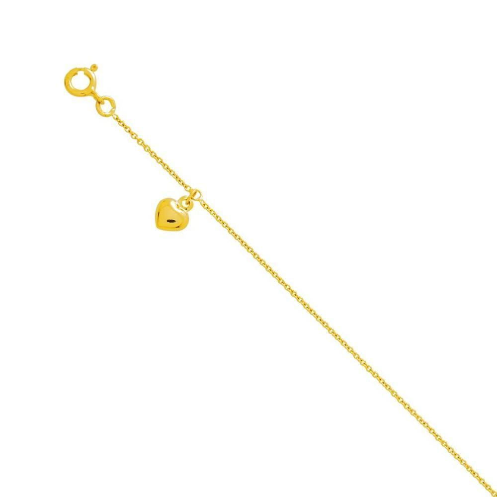 prix réduit 50% de réduction style roman Bijou chaine de cheville avec breloque coeur Or jaune