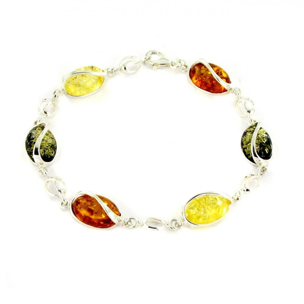 Bracelet Argent 925/00 et ambre véritable