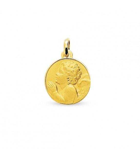 Médaille ange priant en Or jaune 750/00