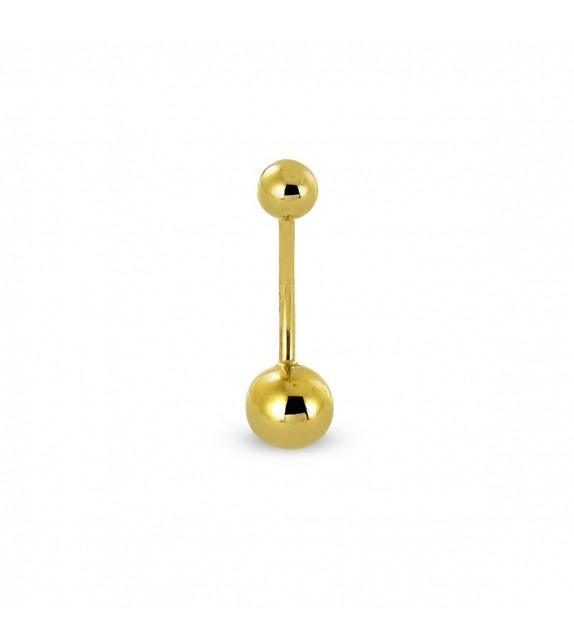Piercing nombril Or jaune 375/00