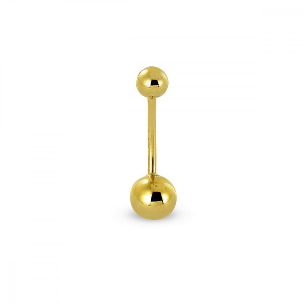 Piercing nombril Or jaune 375/00