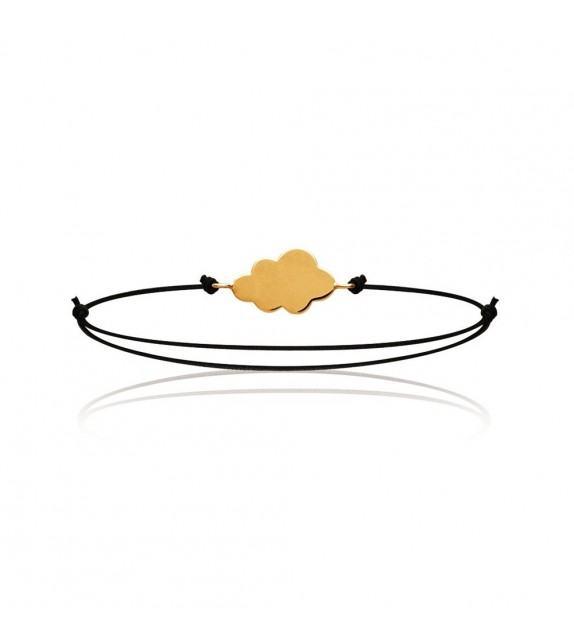 Bracelet coulissant Nuage plaqué Or