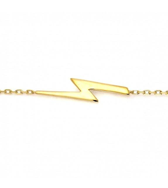 Bracelet Coup de foudre plaqué Or