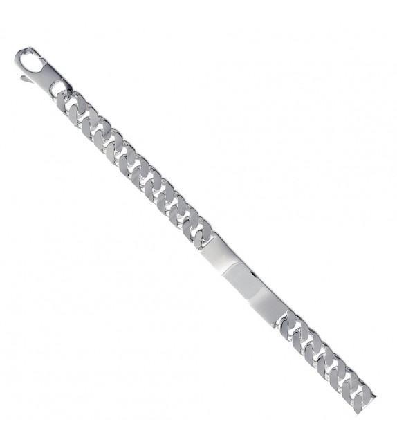 Bracelet gourmette identité Argent brillant 925/00 - 10mm