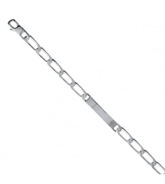 Bracelet identité maille cheval Argent brillant 925/00 - 7mm