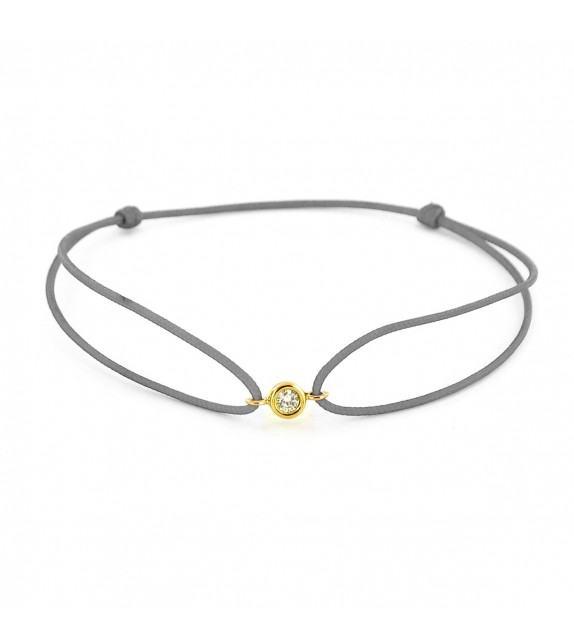 Bracelet diamant serti clos Or jaune 750/00 - gris