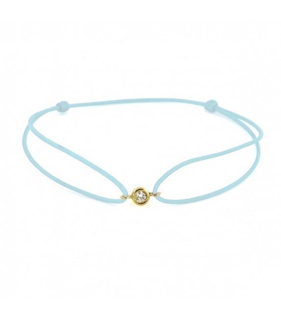 Bracelet diamant serti clos Or jaune 750/00 - turquoise