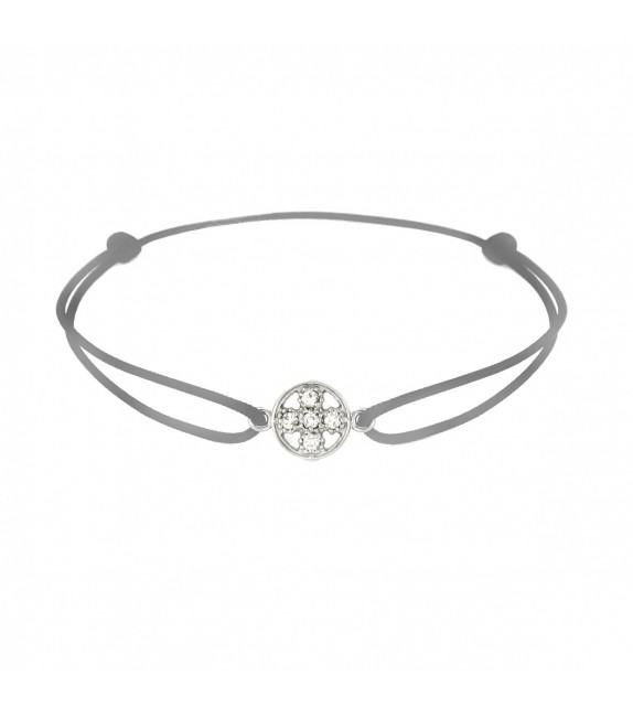 Bracelet croix diamants Or blanc 750/00 - gris