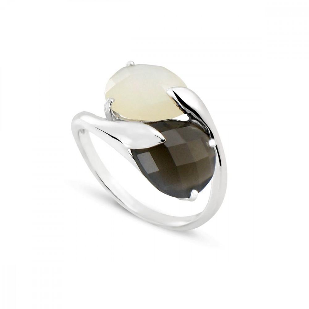 Mes Bague Blanc Et Pierres Bijoux Lune Noire De Poire Double Or 75000 Blanche Tous thQsrdC